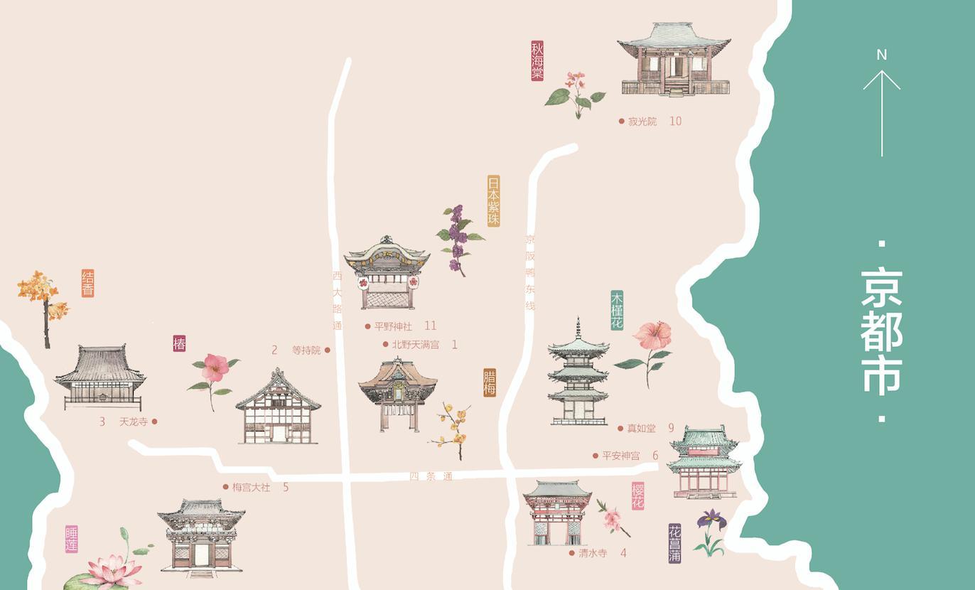 日本手绘旅游攻略